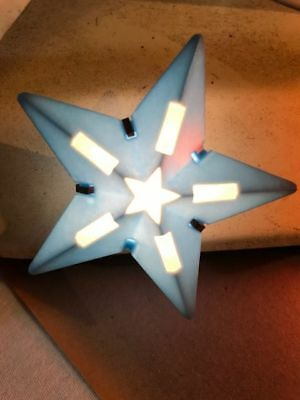 1950 Vintage C-6 Plastic Blue Paramount C-6 Christmas Star Light Bulb Working