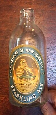 Empty Bottle Of Sparkling Ale From The Lion Brewery Of New York City—As Is