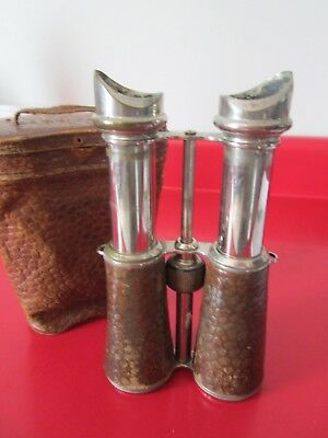 Antique  Unknown to us Maker - MILITARY   BINOCULARS For Restoration   #11