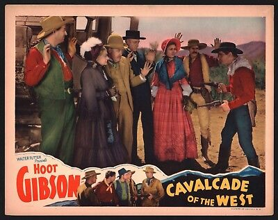 CAVALCADE OF WEST Lobby Card (Fine) 1936 Hoot Gibson Cowboy Movie Poster 15602