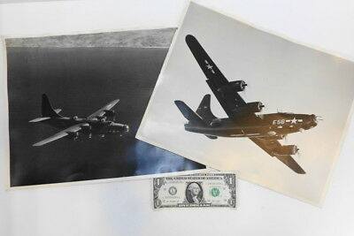 (2) WW2 Consolidated US NAVY PBY4 PRIVATEER Company Promo PHOTOGRAPHS