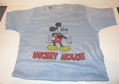 Vintage Disney 1980's Mickey Mouse 2 Sided Short Sleeve T-Shirt Size Adult Med