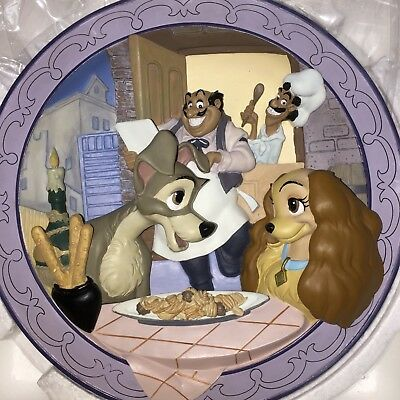 Walt Disney's Lady and the Tramp 3D Limited Edition Bella Notte Collector Plate