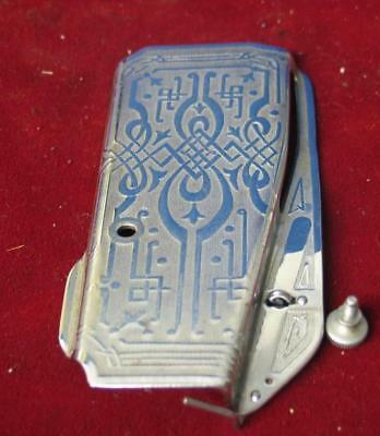 Vintage Singer Featherweight 221 Sewing Machine Scroll Side Plate