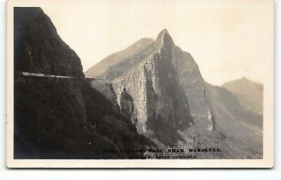 "Minty ""Nuuanu Pali Near Honolulu"" Hawaii Photo Postcard RPPC Ray Jerome Baker"