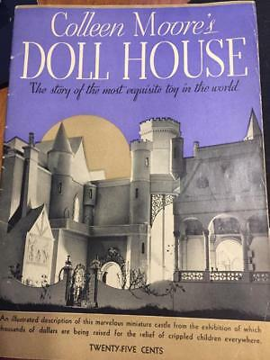 """1935 Colleen Moore's """"Incredible """" Doll House Booklet / Magazine Must See"""