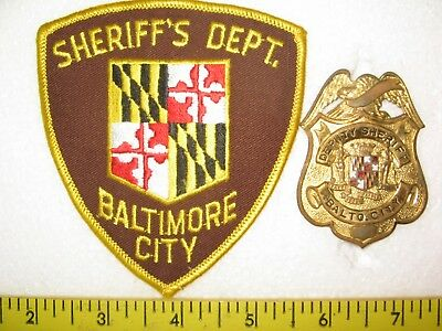 SHERIFF'S DEPT. BALTIMORE CITY / DEPUTY SHERIFF BADGE - MD. set of 2