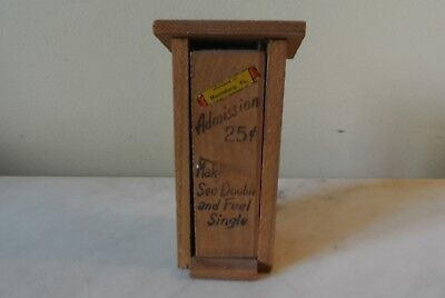Vtg 50's  Bar Souvenir Miniature Outhouse Verse Bills Beer Bottle Harrisburg PA