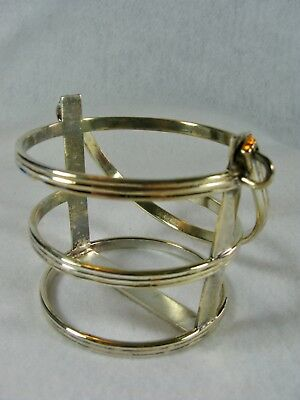 Silverplate Candle Holder Basket with Handle