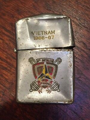 1966-67 Vietnam Lighter 4th Battalion 12th Marines—Crunched—Japan Made