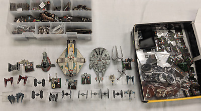 Star Wars X-Wing Miniatures Game LOT Slave-1 Millenium Falcon Ghost MORE DS1