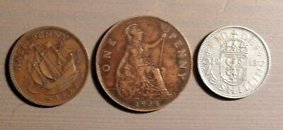 GREAT BRITAIN - Lot of 3 coins...see item description box