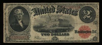 1917 $2 United States Note Large Size Red Seal FR60