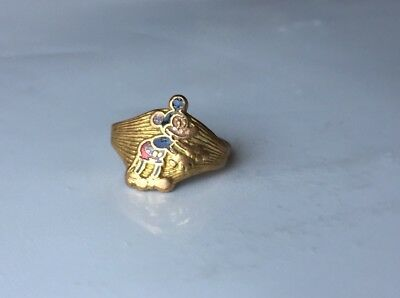 1930s Vintage Disney Mickey Mouse Ring Enamel