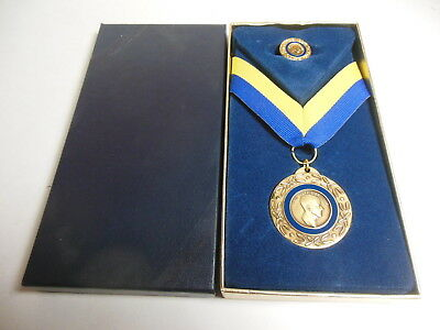 Rotary International Paul Harris Fellow Medal & Pin Award Presentation Box Club