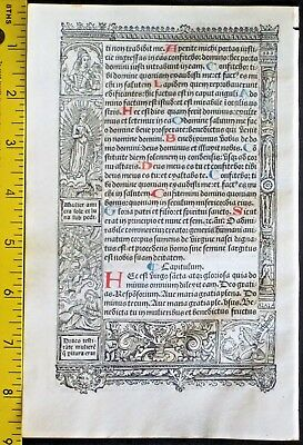 Lg.printed medieval BoH,deco.Border Scenes,Angel fights monsters,S.Vostre,c.1512