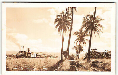 Oahu Railroad & Land CO. Leeward Ewa Kapolei-Waianae Area Real Photo Postcard