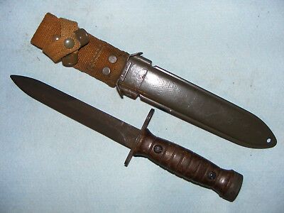 Italian M1 carbine bayonet very good condition with M8 type scabbard AET 1960
