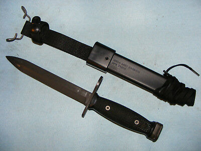 Vietnam war US M7bayonet BOC with post war M10 scabbard fighting knife USGI