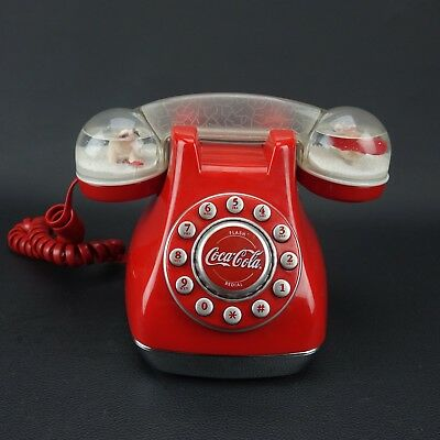 Coca Cola Snow Dome Telephone Coke Handset Push Button Phone