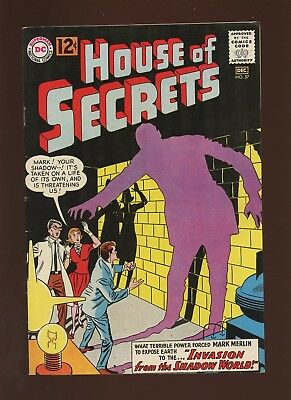 House of Secrets 57 VF 8.0 *1 Book* Invader from the Shadow World,By Miller,1962