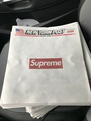 Supreme New York Post In Hand Limited Edition Authentic New Ready To Ship