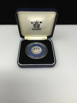 "1993 Baliwick of Jersey Proof Sterling .925 Silver Pound ""Gemini 1864"""