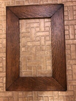 Antique Arts & Crafts Mission Style Oak Picture Frame