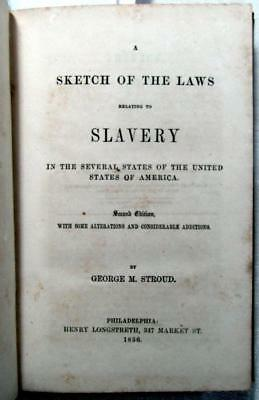 1856 SLAVERY - American Slave Laws – Absence of Rights, Fugitive Slave Laws