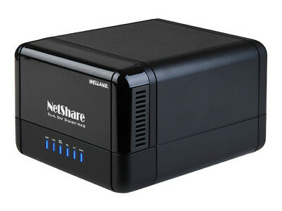 """Welland NetShare ME-581GNS 3.5"""" Dual Bay Gigabit NAS with RAID support"""