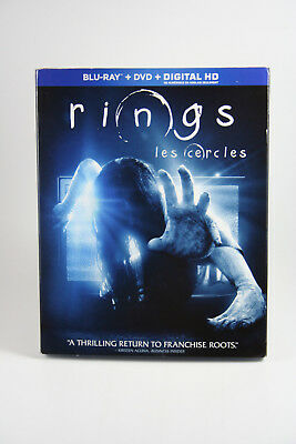 Rings [Blu-ray] Brand NEW Horror + DVD + Digital w/ Slipcover Canadian Release