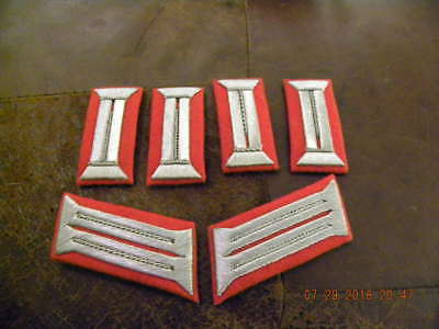 Mint Unissued German Officers Waffenrock Collar Tabs Red Artillery
