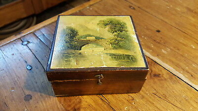 Antique Advertising Brook's Thread SEWING BOX, Late 1800's, with Provenance