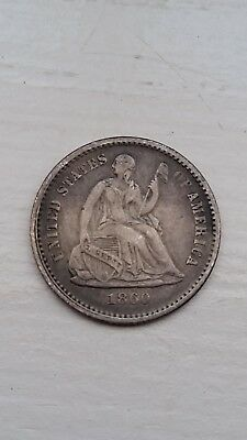 1860 Seated Liberty Silver Half Dime **Bold Date & Nice Coin!!  L@@K!!