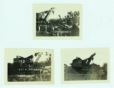 ORIG 1912 100 Ton, StLIM&S Railway WRECK CRANE Photos at Double Creek, OKLAHOMA