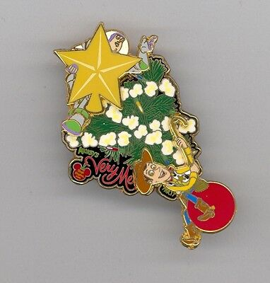 Disney Mickey's Very Merry Christmas Party Buzz Woody on Tree Toy Story LE Pin