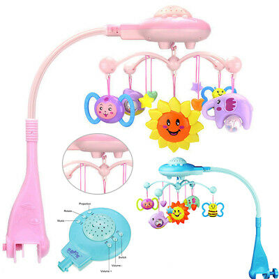 Baby Musical Crib Bed Cot Mobile Planes Light Nursery Lullaby Toy with Remote