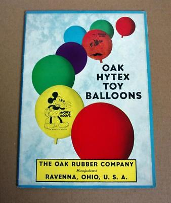 THE OAK RUBBER COMPANY Vtg 1938 PROMOTIONAL CATALOG PROMOTING DISNEY BALLOONS