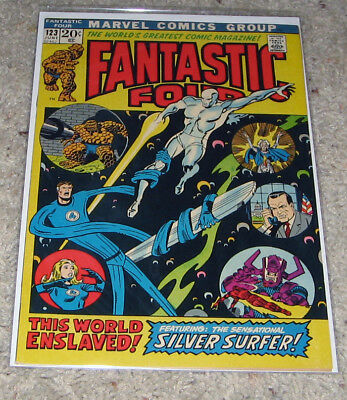 Fantastic Four 123 VF+ Silver Surfer Galactus HOT Lot Avengers 4?