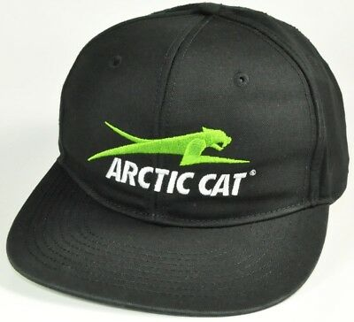 NEW Arctic Cat Snapback Embroidered Cap Snowmobile black green logo hat sled