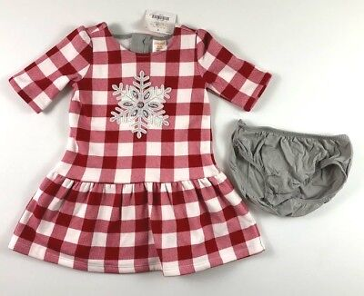 447c88a3ce510 GYMBOREE 18-24 Months Buffalo Red Plaid Snowflake Dress North Pole Party NWT