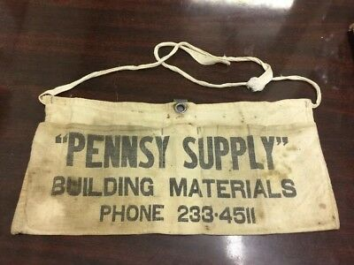 Vintage Old Canvas Smock / Apron Pennsy Suppy PA Building Materials