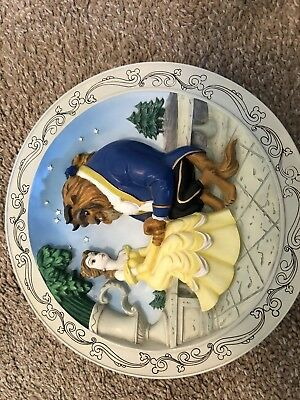 Disneys Beauty And The Beast Plate. 3D plate