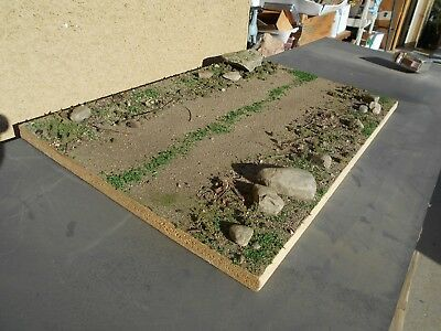 LARGE Built, Diorama Base  road, 1/35, 1/16, 1/48, 1/72 Military, Tank, Infantry