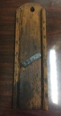 Antique Wood Cabbage Slaw Kraut Cutting/Slicing Board, Old Primitive Piece