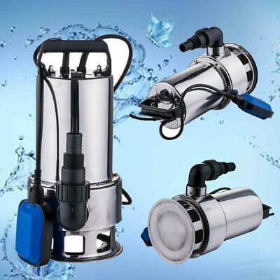 Sewage Pump 1.5HP 4300GPH Pool Pond Flood Submersible Water Pump 1100w High Powe