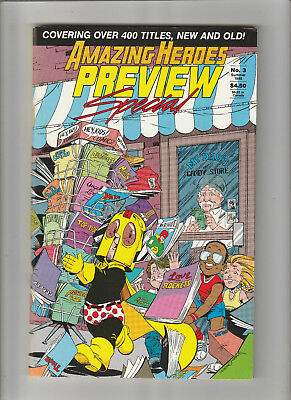 AMAZING HEROES Preview Special #3 Comics Fanzine 1986 VF condition