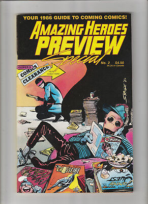 AMAZING HEROES Preview Special #2 Comics Fanzine 1986 VF/Fine condition