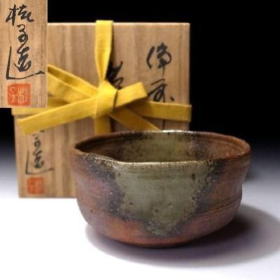 LM5: Japanese Pottery Tea bowl of Bizen ware by Famous potter, Keiko Toda