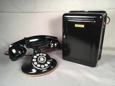 1930s Western Electric 202 Telephone, D1 Base, 4H Dial, F1 handset, 634 Subset